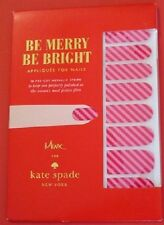 designer Kate Spade NY New York  NWT GIFT nail stickers striped new authentic