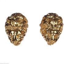 18 kt Gold Vermeil over Brass Etruscan Lion Earrings Alberto Juan