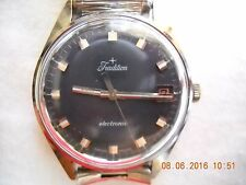 VINTAGE Black DIAL SWISS TRADITION WATCH RUNNING GREAT Men