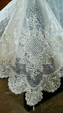 Handmade Beaded Pearl Tableclothes with Napkins  - Double Layer
