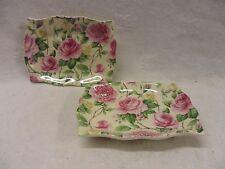 set of 2 rose bloom design soap dish
