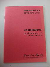 CUADERNO BARREIRO-RUBIO. MATEMATICAS. Combinatoria problemas y cuestiones.