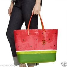 NWT Sealed Authentic KATE SPADE Make a Splash Len Watermelon Tote Geranium/Blk