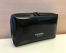Chanel Beauty Black Cosmetic Makeup Bag Pouch Clutch Brand New, no box