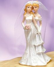 Lesbian Wedding Cake Topper Romance Gay Partner Couple Centerpiece Favor Gift