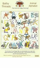 BOTHY THREADS ANIMAL ALPHABET LETTERS COUNTED CROSS STITCH KIT 40x40cm