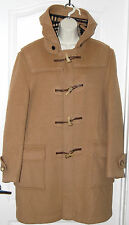 BURBERRY Nova plaid CAMEL wool Speciality DUFFLE coating Hooded TOGGLE COAT 48 R
