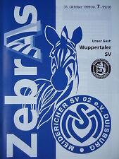 Programm 1999/00 MSV Duisburg Am. - Wuppertaler SV