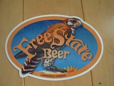 FREE STATE BEER Old Backus Lawrence STICKER decal craft beer brewery brewing