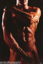 POSTER: MAN WITH RED TOWEL  - SEXY MALE MODEL - FREE SHIPPING ! #26927   RW23 E