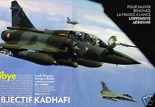 Coupure de Presse Clipping 2011 (8 pages) Libye objectif Kadhafi