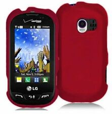 Hard Rubberized Case for LG Extravert VN271 - Red