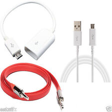 ✔ COMBO 3 in 1 Micro USB OTG Cable,Mobile Charging Cable,FLAT Aux Cable ✔