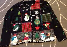 "Planet & Co PL Gorgeous ""tacky"" Christmas Sweater Cardigan"