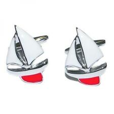 Red Keel Yacht CUFFLINKS Captain Sailor Boat Party Christmas BIRTHDAY PRESENT