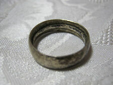 WWII ERA U.S. SOLDIERS PERSONAL SILVER HALF DOLLAR COIN RING 1943 U.S.     T*