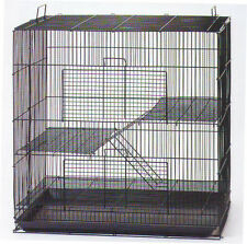 NEW 3 Level Black Chinchilla Guinea Pig Small Animal Rat Mice Cage BK #K701H 222
