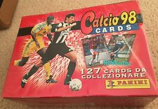 1998 PANINI ITALIAIN FOOTBALL/SOCCER TRADING CARD UNOPENED BOX - 30 PACKS - RARE