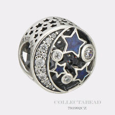 Authentic Pandora Shimmering Midnight Blue Enamel Vintage Night Sky 791992CZ