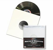 "(20) BCW Premium 12"" PolyLined Paper Record Sleeves 33 1/3 RPM Virgin Paper"