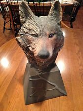 Dual Fire & Ice Wolf Sculpture European - Limited Edition by Rick Cain