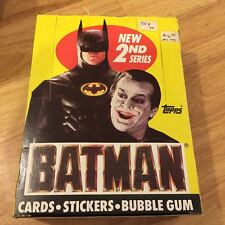 1989 Topps Batman Movie 2nd Series Trading Cards -Box of Sealed Packs