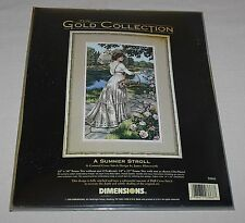 A Summer Stroll 3868 Dimensions Gold Collection Victorian Counted Cross Kit New