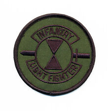 "New 4"" Round Lightfighter School Patch - 7th Infantry Division - Fort Ord, CA"