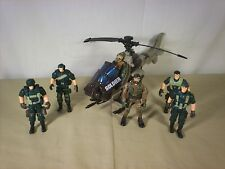 Army Action Figure Lot of 6 and Helicopter Lanard and others
