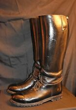 "DEHNER Motorcycle Patrol Police ALL LEATHER Boots 11.5 EE 20"" WIDE CALF"