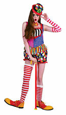 Onorevoli CLOWN Fancy Dress Costume MULTI-COLOUR Halloween OUTIFT NUOVO