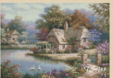 Cross stitch chart-summer country cottage no... 346 uk gratuit p&p. TSG37