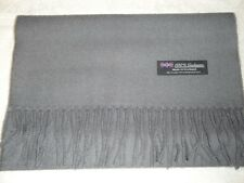 New 100% Cashmere Scarf Soft 72X12 Solid Grey Scotland Wool Women Wrap Plaid