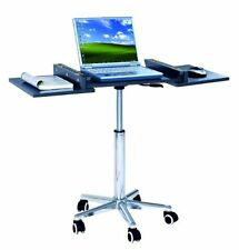 Mobile Laptop Cart Desk Table Stand Office Computer Foldable Rolling Portable