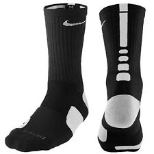 Nike Elite Cushioned Crew Basketball Socks Men's 6-8, Women's 6-10 Black/White