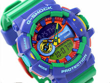 Casio G-Shock GA-400-2A Magnetic Resistant Funky Green Blue Resin Watch