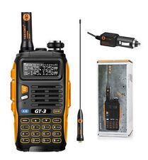 2pcs Baofeng GT-3 Mark II VHF/UHF FM Ham Two-way Radio Walkie Talkie