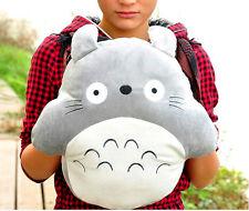 14'' My Neighbor Totoro Gray Plush Pillow Hand Warmer Cushion Square Xmas Gift