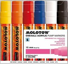 MOLOTOW ONE 4 ALL 627HS - 6 PIECE MARKER PEN SET - BASIC SET 1