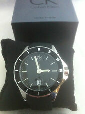 CALVIN KLEIN PLAY WATCH K2W21XD1 BLACK DIAL BNWT GENUINE SWISS QUARTZ