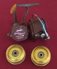 Vintage Langley Spin Drift M# 860 Spinning Reel with Line & 2 extra Spools Used