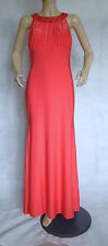 NEW LADIES AX PARIS GATSBY ART DECO JEWEL EMBELLISHED CORAL MAXI DRESS SIZE 16