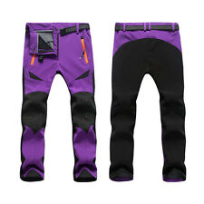 Men Women Breathable Shell Outdoor Pants Thick Sugan Velvet Hiking Trousers
