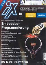 iX Magazin, Heft Oktober 10/2016: Enbedded-Programmierung +++ wie neu +++