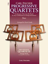 Progressive Quartets Strings Learn to Play Double Bass Chamber Music Book