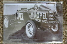Opel Old Car Tin Metal Sign Painted Poster Comics Book Superhero Wall Decor Art