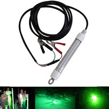12V LED GREEN UNDERWATER SUBMERSIBLE NIGHT FISHING LIGHT crappie shad squid boat
