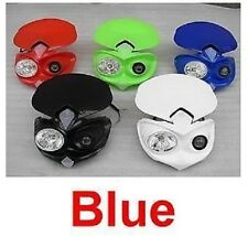 BLUE Acerbis Style Cyclops Headlight Motorcycle Halogen Street Fighter Suzuki