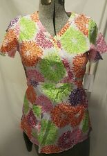 NWT Koi Kathy Peterson Scrub Top XS extra small heat wave willow