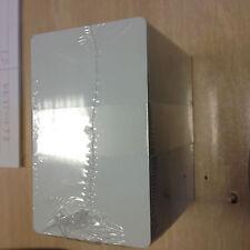 100 TESSERE CARD BADGE neutre  0,76 CR80 per stampanti termografiche